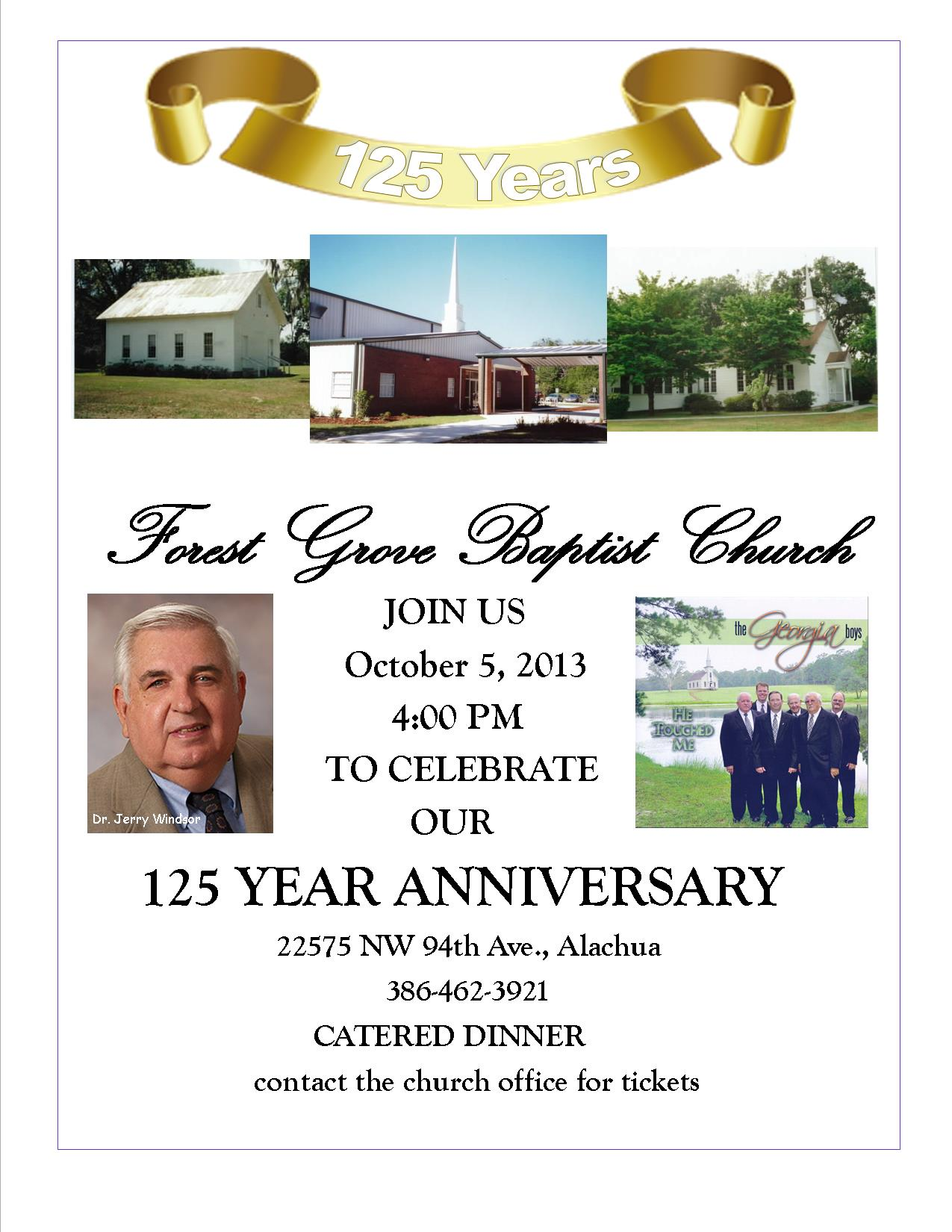 Forest Grove Baptist Celebrating Years